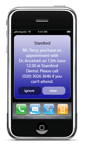 Txt Connexions Dental Sms Examples